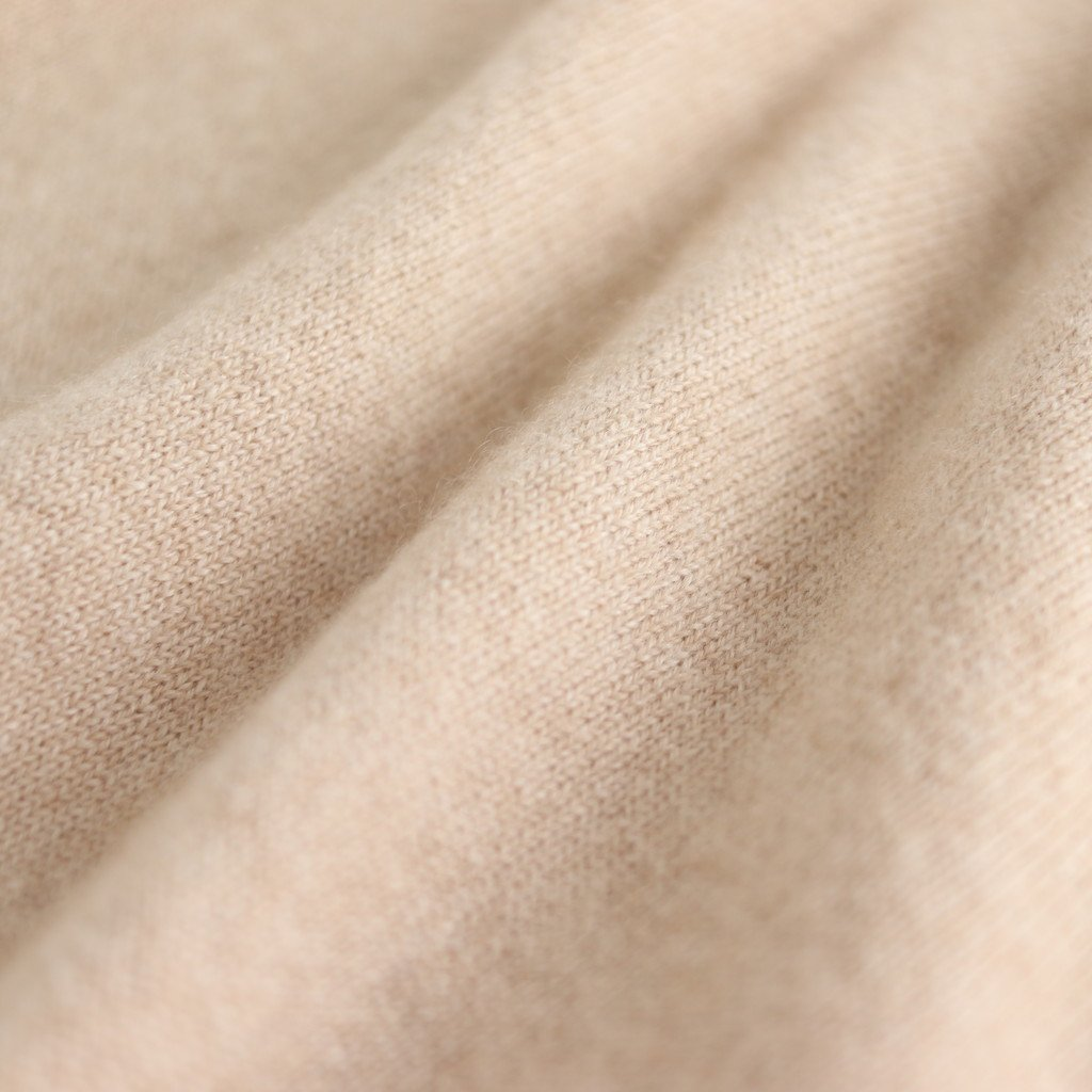 BABY CASHMERE KNIT SLEEVELESS ONE-PIECE #NATURAL BEIGE [A20SD03BC]