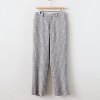 HARD TWIST WOOL DOUBLE FACE CHECK SLACKS #GRAY CHECK [A20SP02WC] _ AURALEE | オーラリー