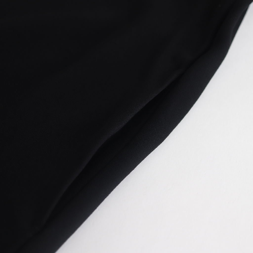 NFTOP アセテート&ポリエステルライトクレープダブルクロス オーバーワンピース #BLACK [NK-NC914OP]