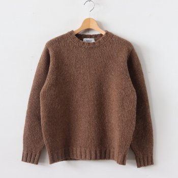 3G WOOL KNIT CREW NECK #BROWN [49253] _ YAECA | ヤエカ