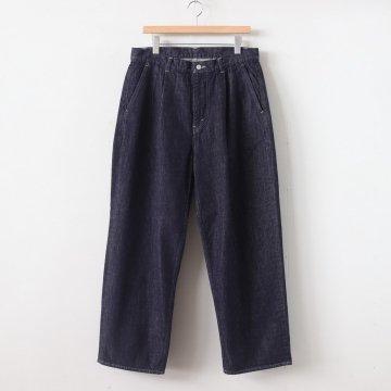 COLORFAST DENIM 2 TUCK PANTS #INDIGO [GM201-40095B] _ Graphpaper | グラフペーパー
