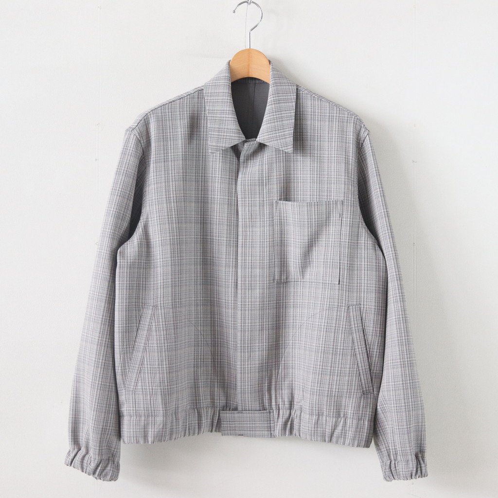 <img class='new_mark_img1' src='https://img.shop-pro.jp/img/new/icons1.gif' style='border:none;display:inline;margin:0px;padding:0px;width:auto;' />HARD TWIST WOOL DOUBLE FACE CHECK BLOUZON #GRAY CHECK [A20SB01WC]