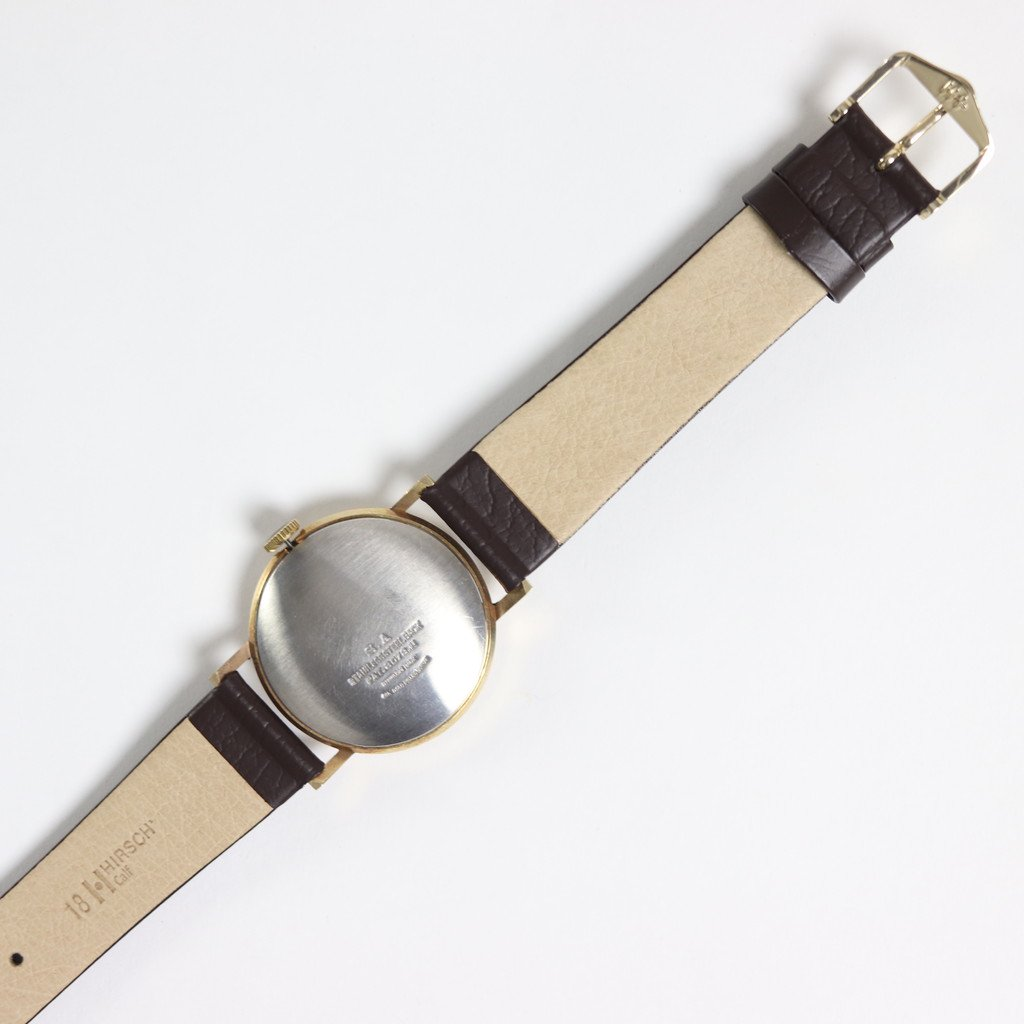 REMAKE WATCH #DARK BROWN LEATHER BAND / WHITE DIAL & GOLD CASE [20A-remake-2]