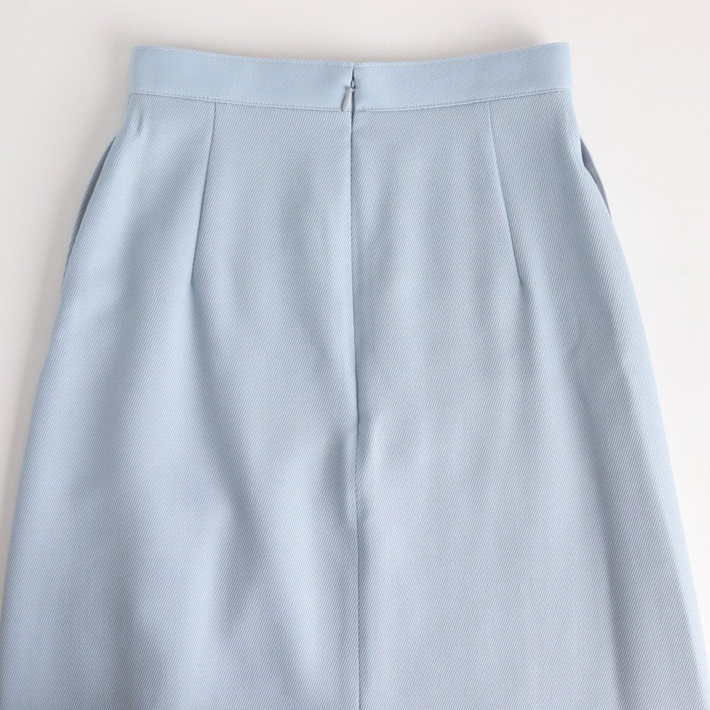 <img class='new_mark_img1' src='https://img.shop-pro.jp/img/new/icons1.gif' style='border:none;display:inline;margin:0px;padding:0px;width:auto;' />WOOL KID MOHAIR KERSEY SLIT SKIRT #LIGHT BLUE [A20SS07MK]
