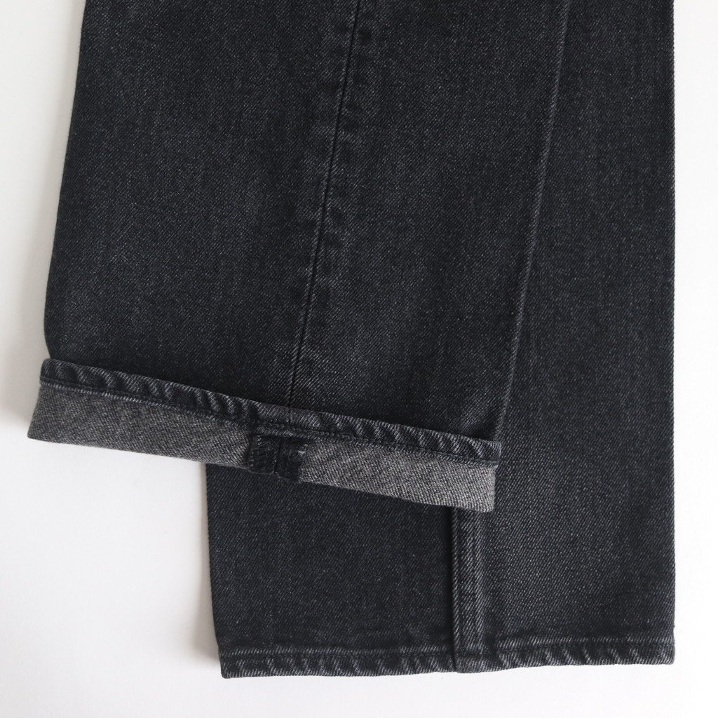 WASHED HARD TWIST DENIM 5P PANTS #WASHED BLACK [A20SB10DM]