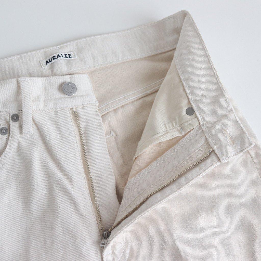 HARD TWIST DENIM 5P PANTS #WHITE×IVORY [A20SP05DM]