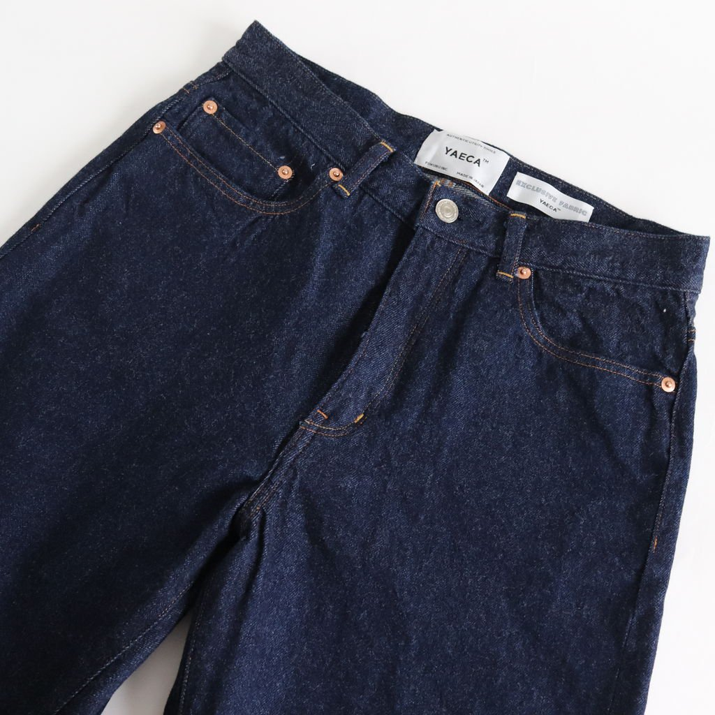 DENIM PANTS WIDE STRAIGHT #INDIGO [13-13WW]