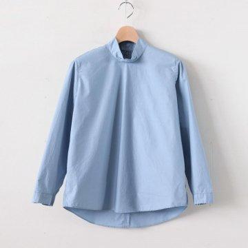NTNPO|60/1スーピマコットンタイプライター スタンドカラープルオーバーシャツ #FROSTY BLUE [S0-NC014PO] _ NO CONTROL AIR | ノーコントロールエアー