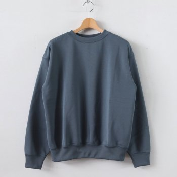 POLYESTER SWEAT P/O #BLUE GRAY [A20SP02PU] _ AURALEE | オーラリー