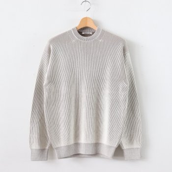 SUPER HARD TWIST RIB KNIT P/O #MIX LIGHT BEIGE [A20SP02TR] _ AURALEE | オーラリー