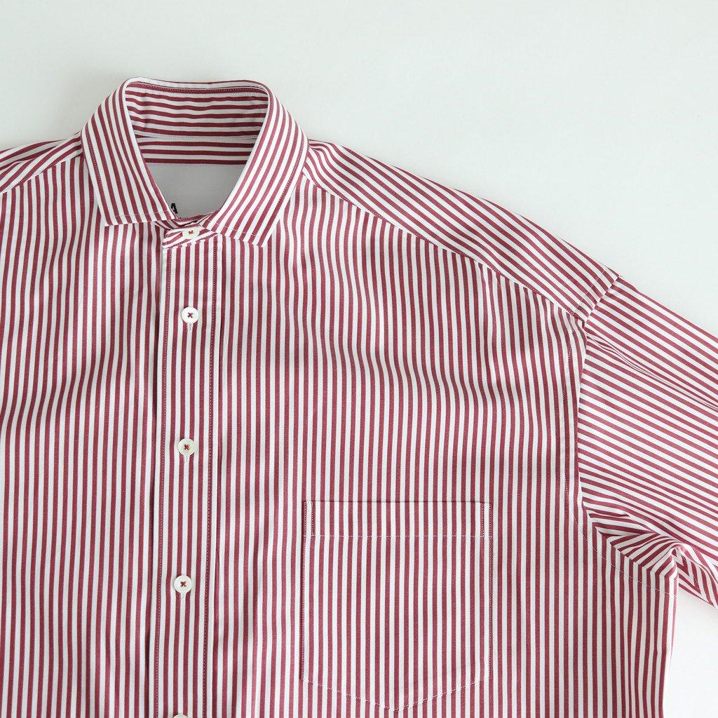 スクエアビッグシャツ #BORDEAUX LONDON ST [TBKS-011]