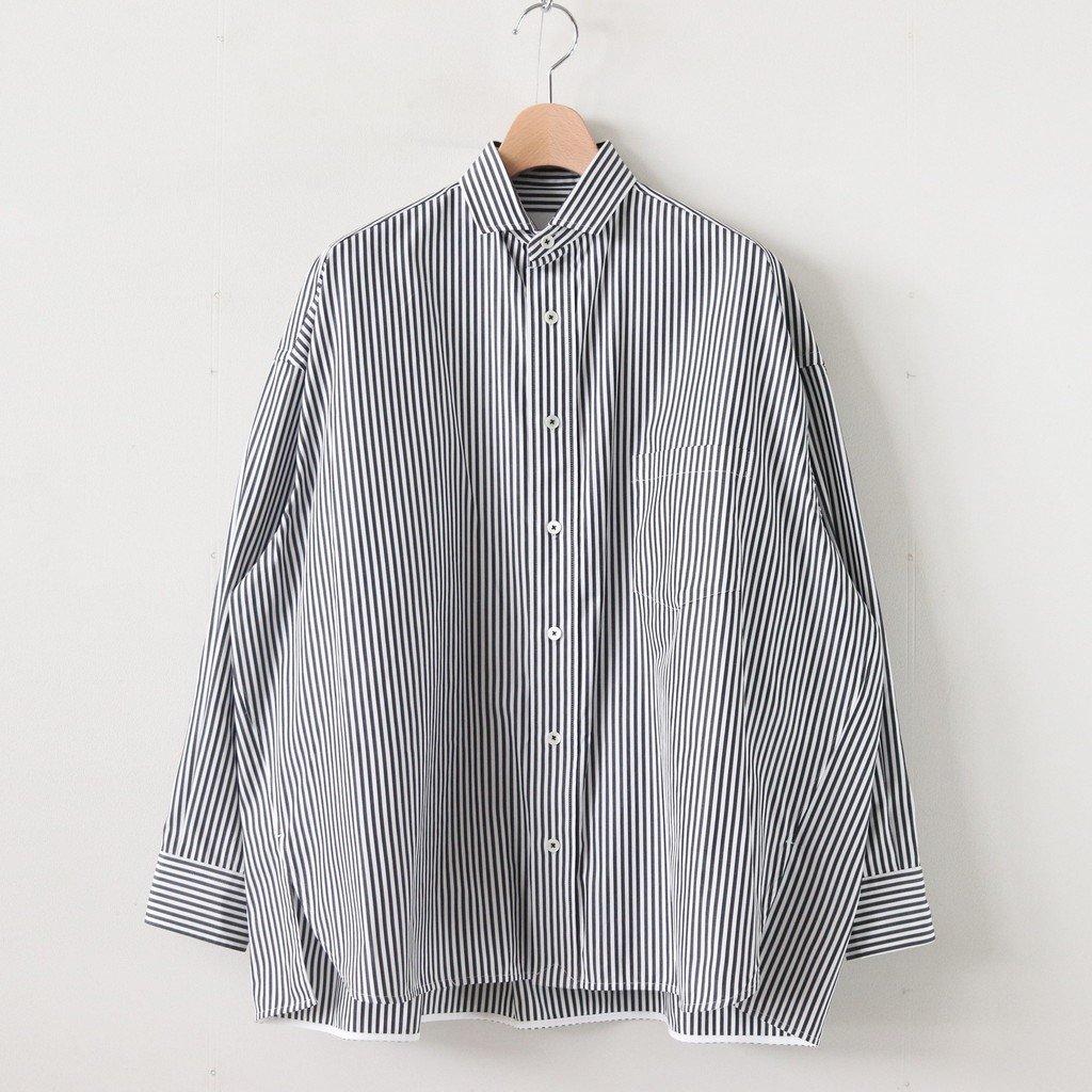 スクエアビッグシャツ #BLACK LONDON ST [TBKS-011]