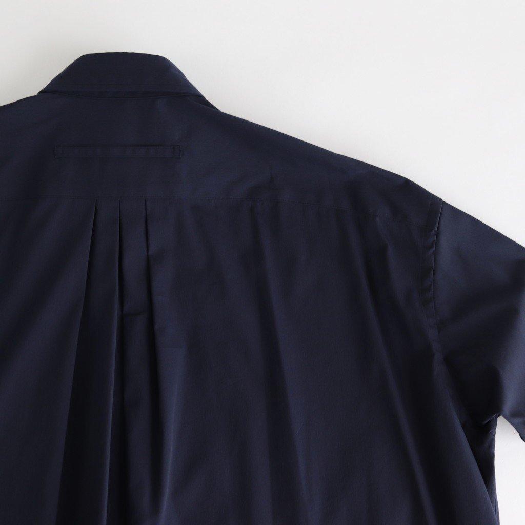 スクエアビッグロングシャツ #NAVY [TBKS-042]