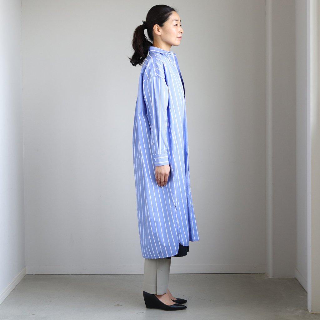 スクエアビッグロングシャツ #BLUE ST [TBKS-033]