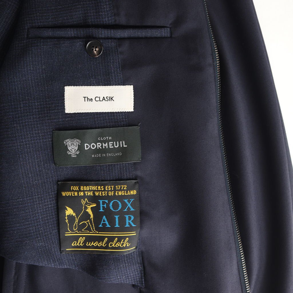 <img class='new_mark_img1' src='https://img.shop-pro.jp/img/new/icons1.gif' style='border:none;display:inline;margin:0px;padding:0px;width:auto;' />HARRINGTON WOOL - DORMEUIL HIGH TWIST WOOL GABARDINE #NAVY [20SS-CKJK-003]