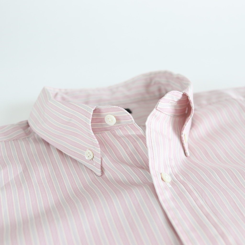 BUTTON-DOWN SHIRT #PINK STRIPE [H2001-SH001]
