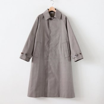 STAND FALL COLLAR COAT #GLEN CHECK [L2001-CO001] _ LENO | リノ