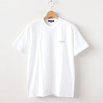綿天竺 製品プリント S/S Tシャツ #WHITE [HE-T009-051] _ COMME des GARCONS HOMME   コム デ ギャルソン オム