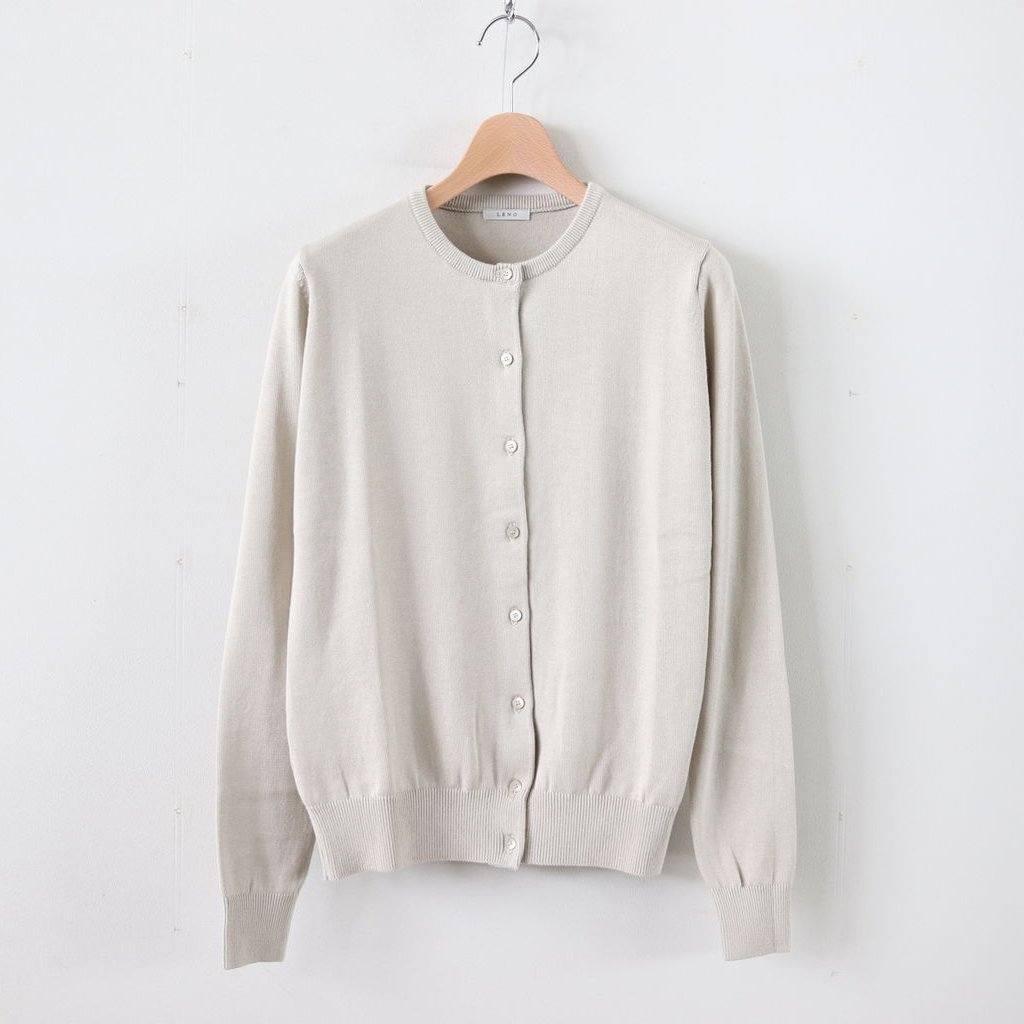 COTTON SILK CARDIGAN #ECRU [L2001-K001]