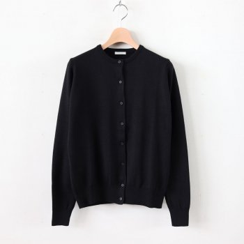 COTTON SILK CARDIGAN #BLACK [L2001-K001] _ LENO | リノ