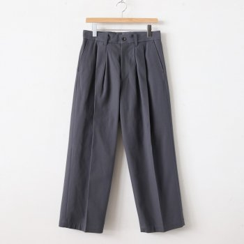 WIDE STRAIGHT TROUSERS #DE.TAUPE [ST.130] _ stein | シュタイン