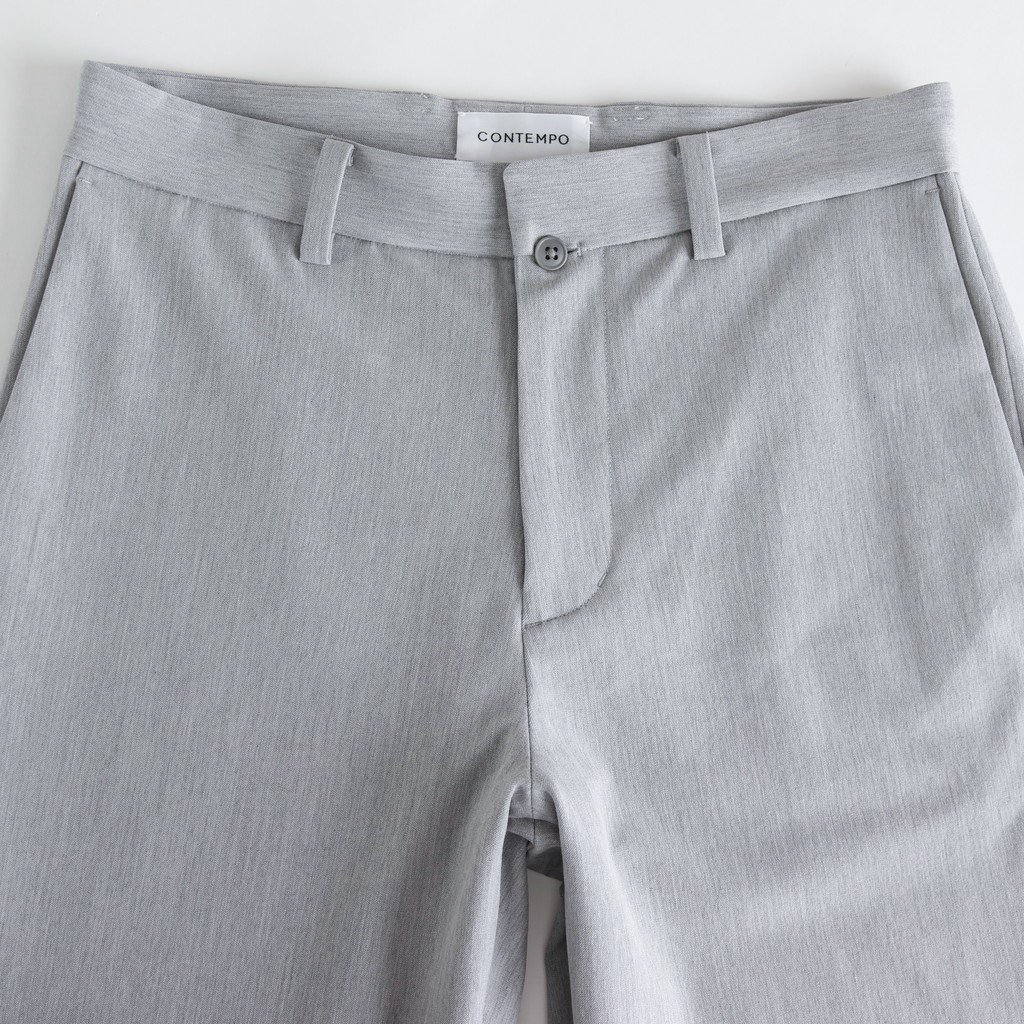 2WAY PANTS WIDE STRAIGHT #L.GRAY [50607]