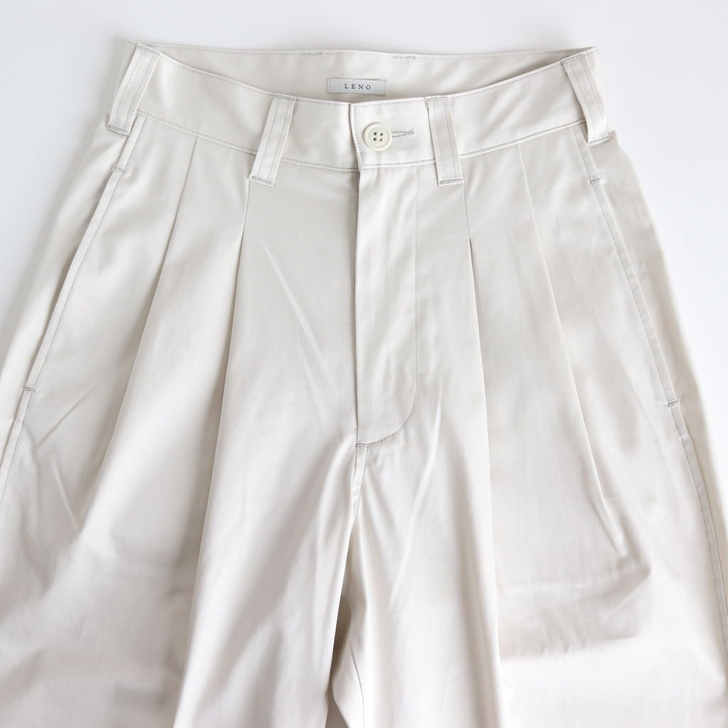 2 TUCK TROUSERS #IVORY [L2001-PT002]
