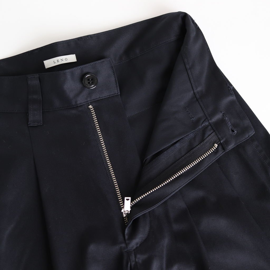 2 TUCK TROUSERS #NAVY [L2001-PT002]