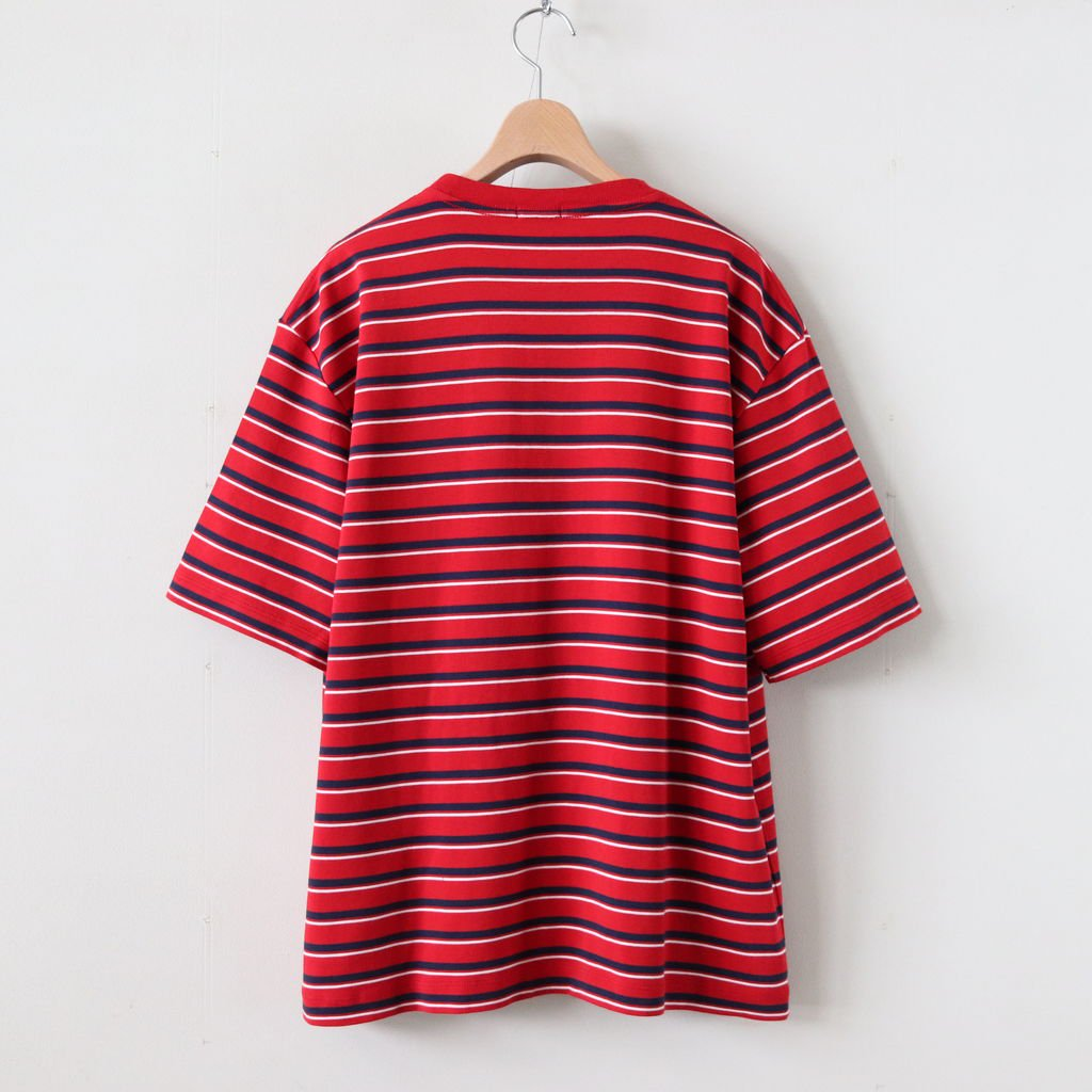 MULTI BORDER BIG T-SHIRT #RED BORDER [H2001-CS004]
