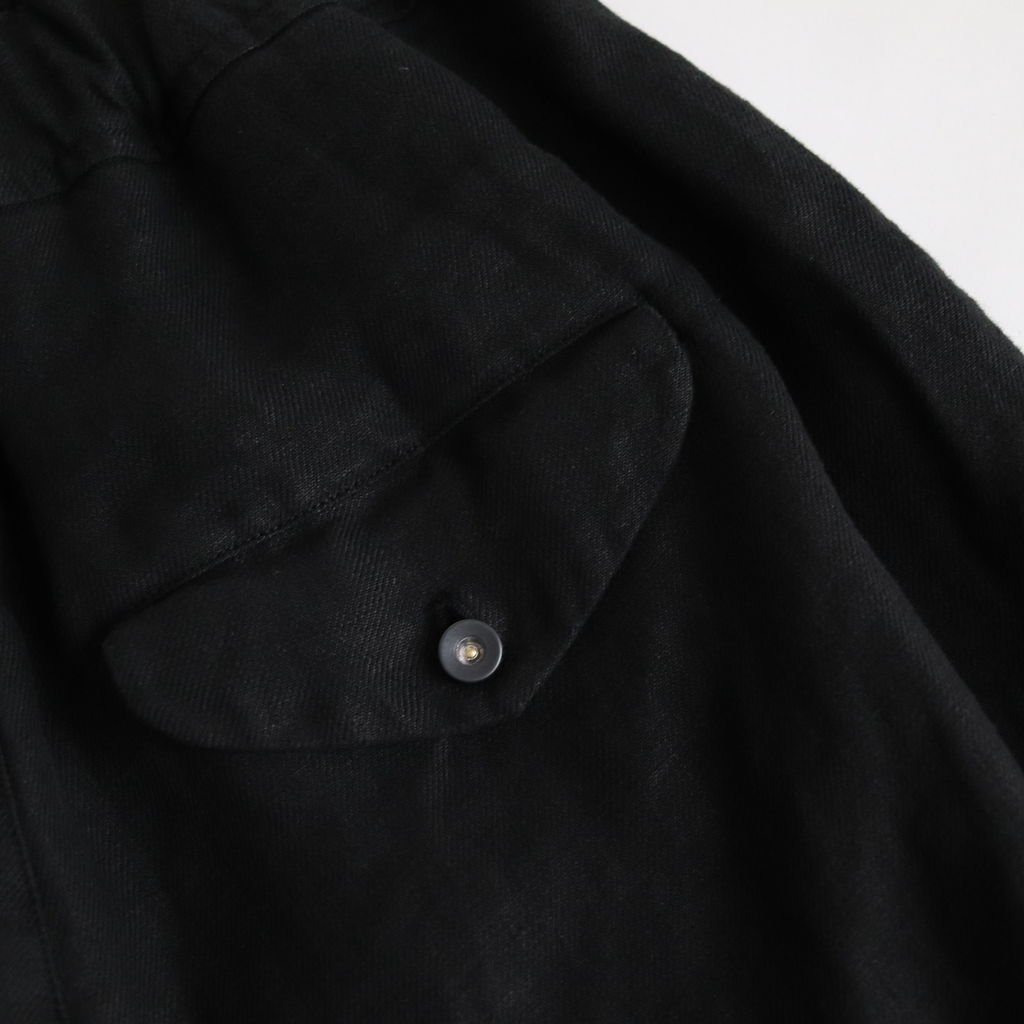 FHWPT|25/1リネンビエラ ワイドテーパードイージーパンツ #BLACK DYED [S0-FR044PF]