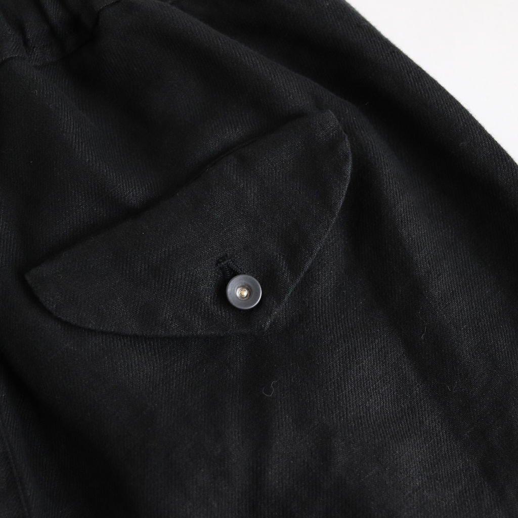FBBPT|25/1リネンビエラ ストレートイージーパンツ #BLACK DYED [S0-FR045PF]