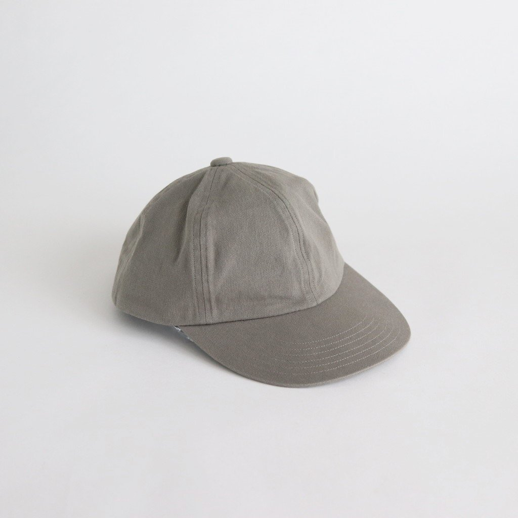 COTTON 6PANELS CAP(ONE WASH) #GRAY [NO.16598]