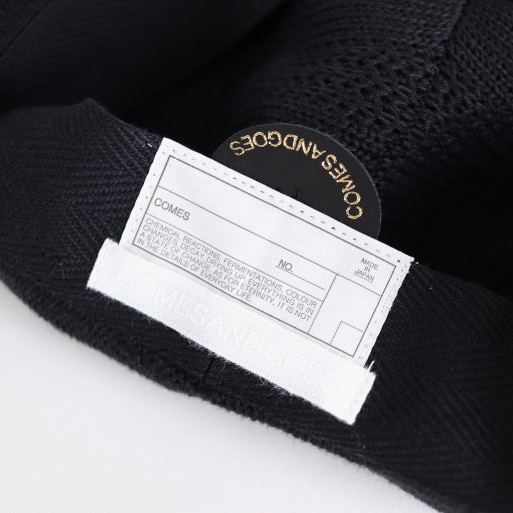 COTTON CASHMERE MESH BERET #BLACK [NO.16606]