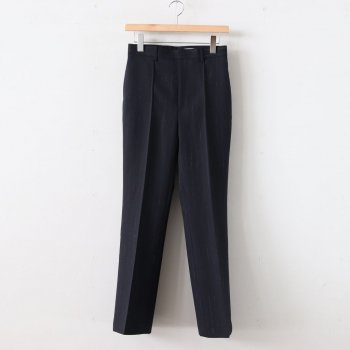 WOOL CUPRA LINEN CLOTH SLACKS #NAVY STRIPE [A20SP05CL] _ AURALEE | オーラリー