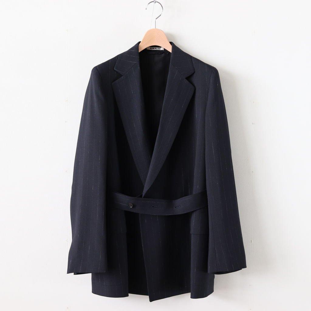 WOOL CUPRA LINEN CLOTH JACKET #NAVY STRIPE [A20SJ04CL]