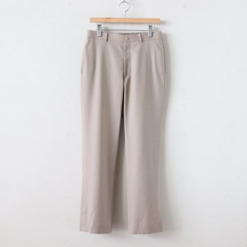 WOOL SILK TROPICAL SLACKS #LIGHT BEIGE [A20SP02WT] _ AURALEE | オーラリー
