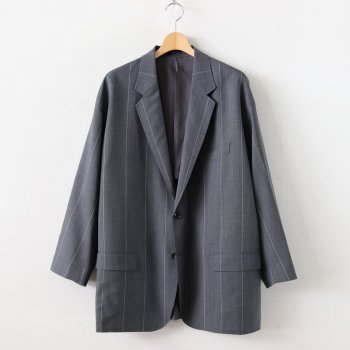 WIDE STRIPE WOOL OVERSIZED JACKET #GRAY [GM201-20005] _ Graphpaper | グラフペーパー