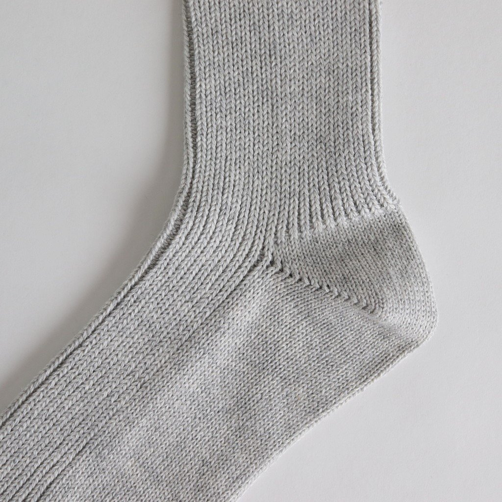 COTTON CASHMERE LOW GAUGE SOX #TOP GRAY [A00S01SX]