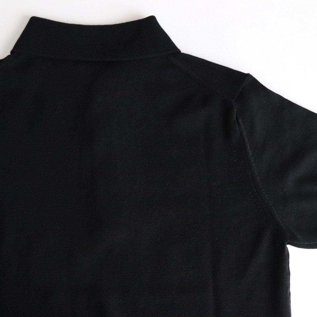 COTTON SILK KNIT POLO #BLACK [L2001-K002]