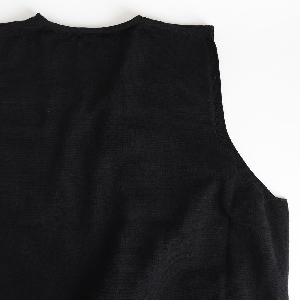 WHOLEGARMENT VEST #BLACK [2001-009]