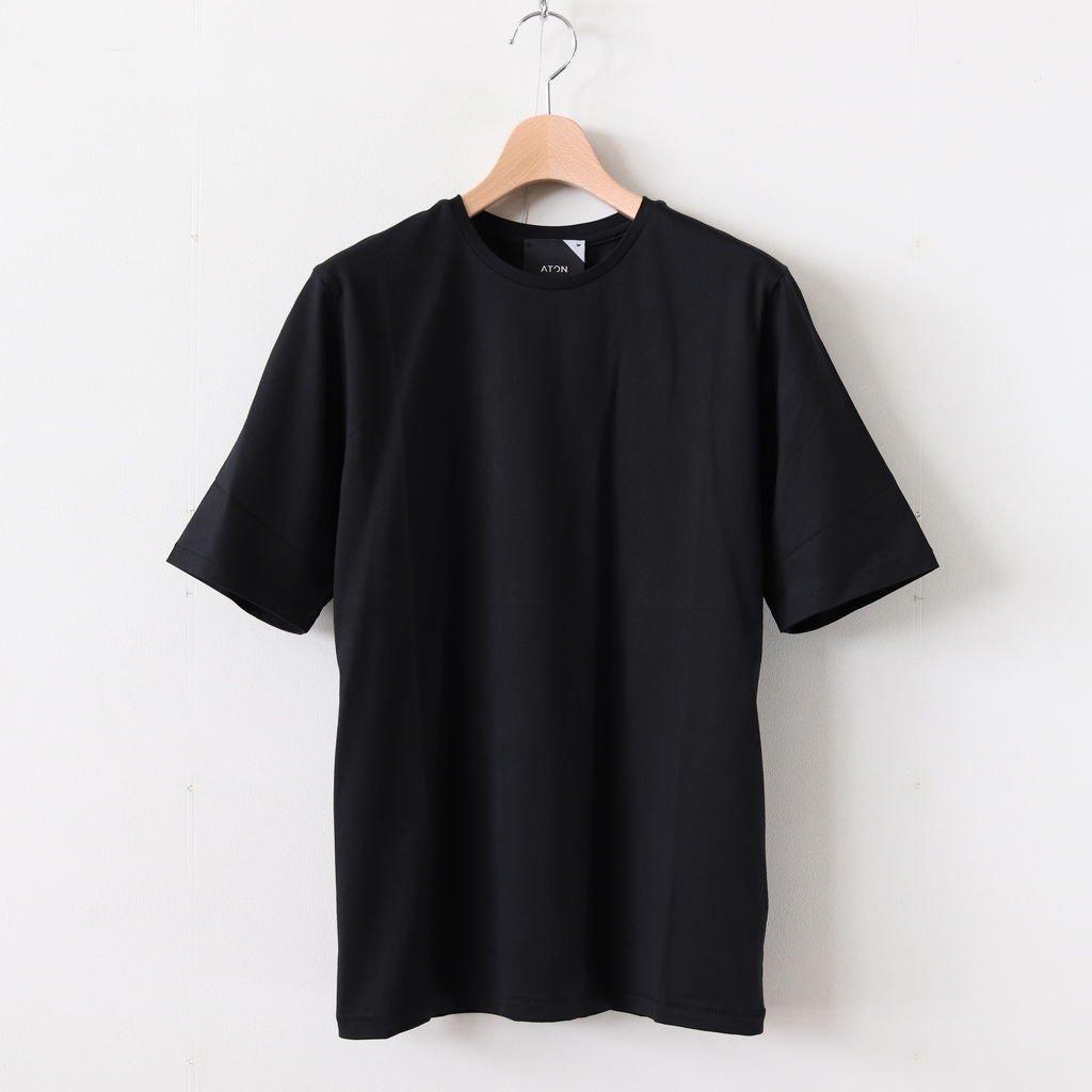 SUVIN 60/2 PERFECT SHORT T-SHIRT #BLACK [KKAGBM0013]