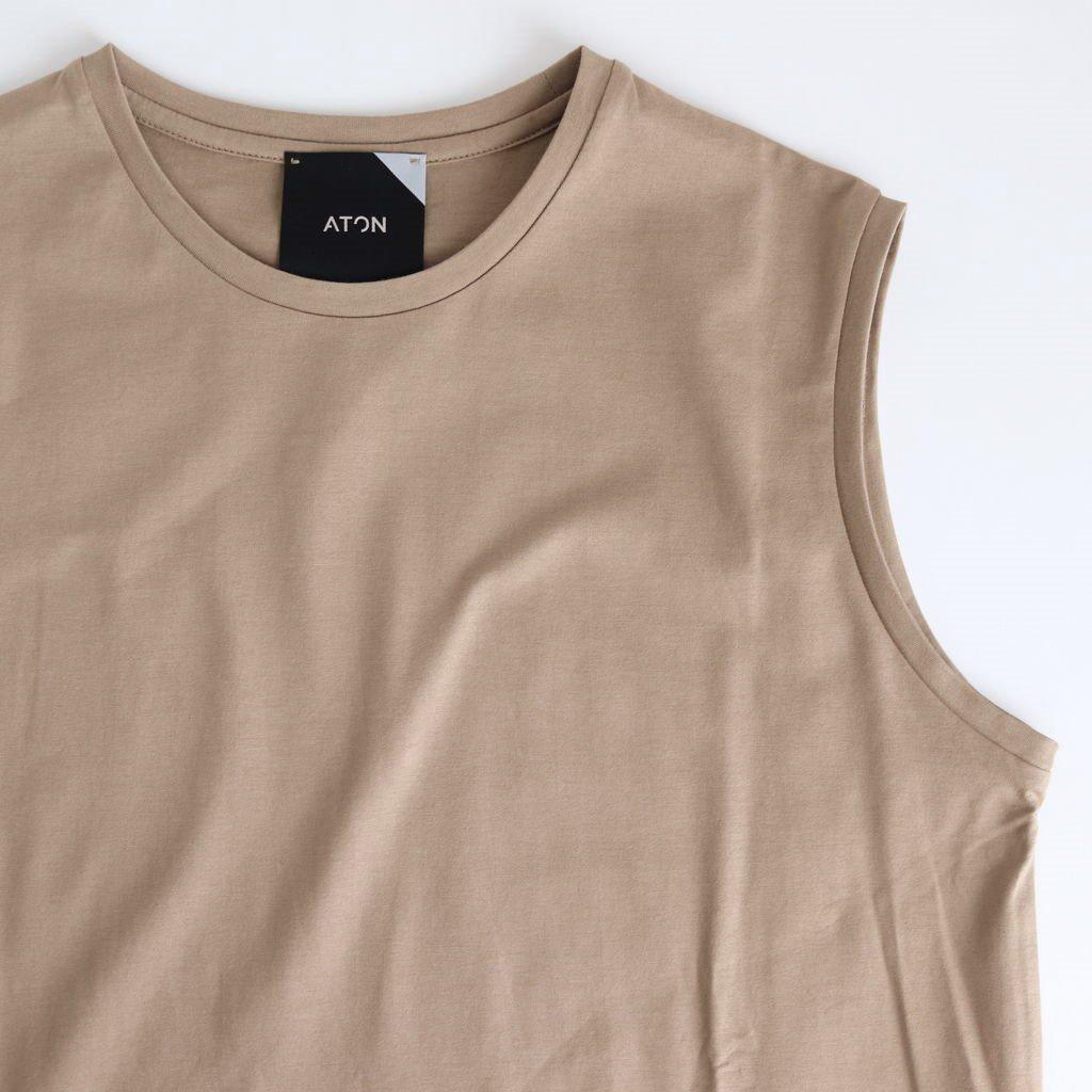 SUVIN 60/2 TANK-TOP DRESS #BEIGE [OPAGBM0013]