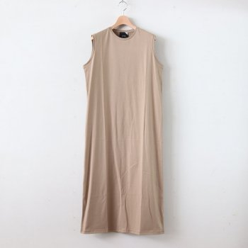 SUVIN 60/2 TANK-TOP DRESS #BEIGE [OPAGBM0013] _ ATON | エイトン