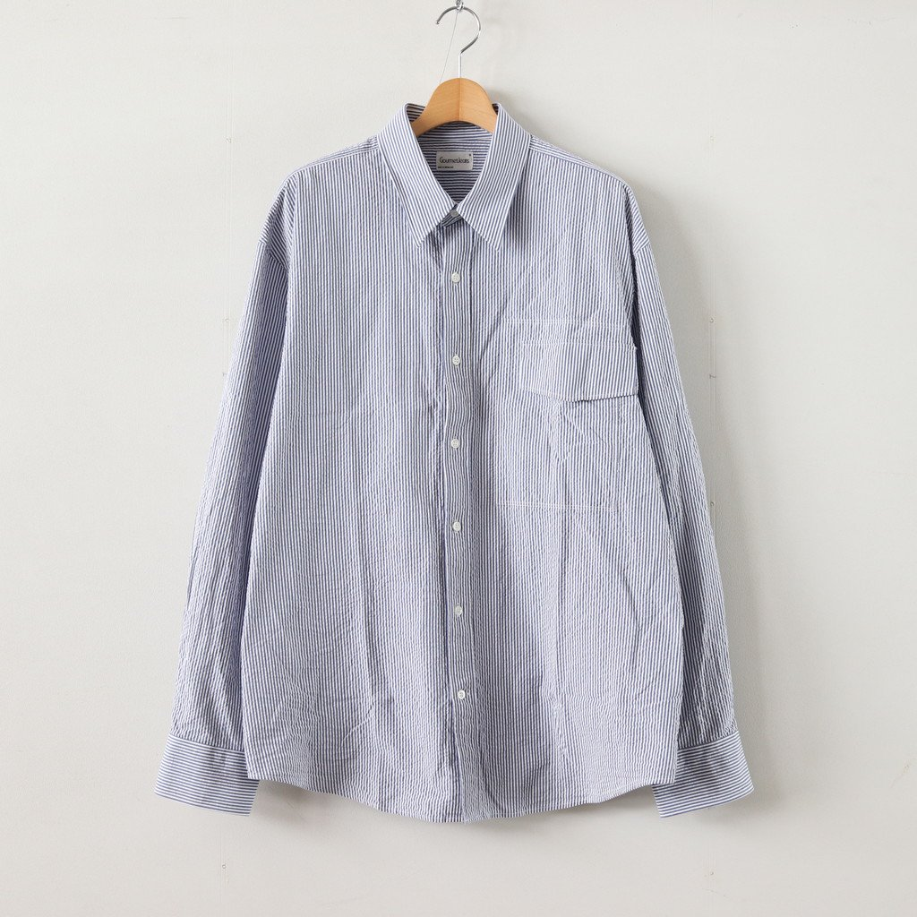 <img class='new_mark_img1' src='https://img.shop-pro.jp/img/new/icons1.gif' style='border:none;display:inline;margin:0px;padding:0px;width:auto;' />IRREGULAR POCKET SHIRT #BLUE [GR-SH]