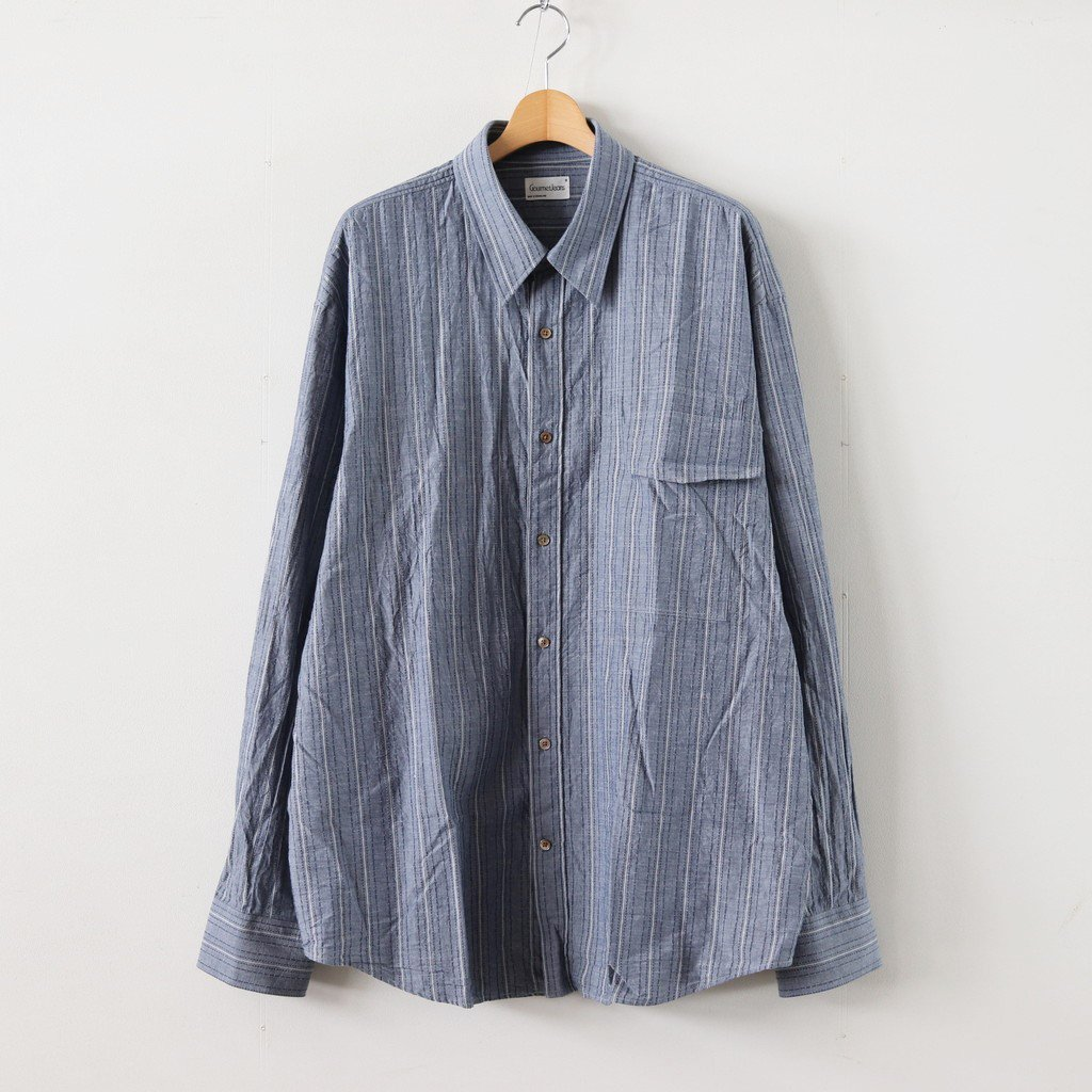 <img class='new_mark_img1' src='https://img.shop-pro.jp/img/new/icons1.gif' style='border:none;display:inline;margin:0px;padding:0px;width:auto;' />IRREGULAR POCKET SHIRT #INDIGO [GR-SH]
