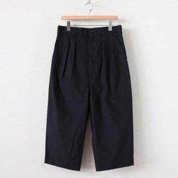 綿ウェザー微起毛 2タックパンツ #BLACK [HE-P025-051] _ COMME des GARCONS HOMME | コム デ ギャルソン オム