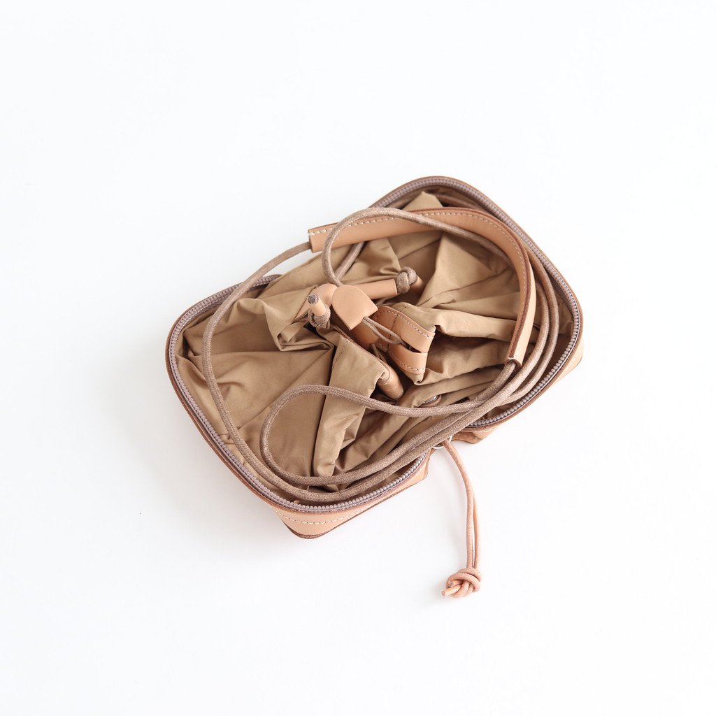 POCKETABLE MINI SHOULDER BAG #BEIGE [BAG-PU10]