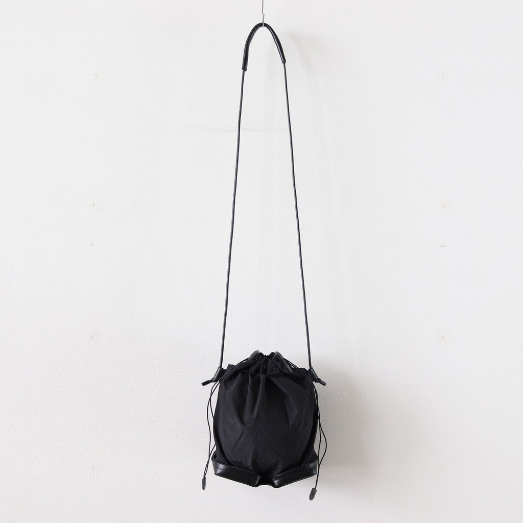 POCKETABLE MINI SHOULDER BAG #BLACK [BAG-PU10]
