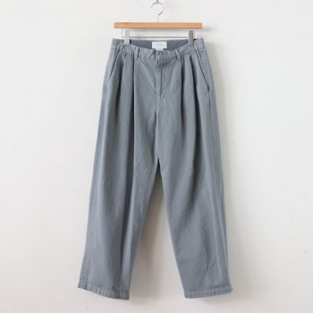 2TUCK WIDE TROUSERS #STEEL GREEN [YK20SS0105P] _ YOKE | ヨーク