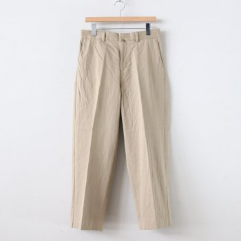 CHINO CLOTH PANTS CREASED #KHAKI [10605] _ YAECA | ヤエカ